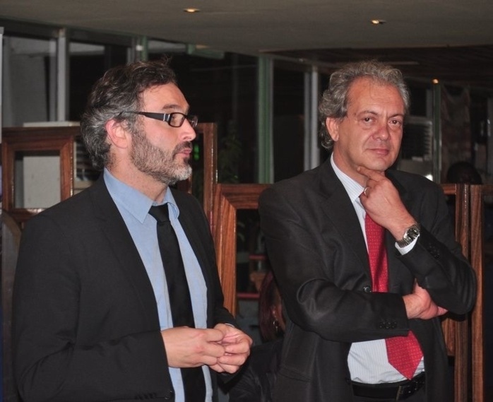 Sylvain BOSC ,Directeur Général Adjoint Affaires Commerciales de Corsair International et Edgardo BADIALI ,Directeur Général de Senegal Airlines