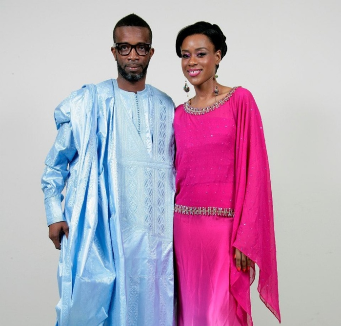 Bouba Ndour en complicité avec le mannequin Dyana Seck