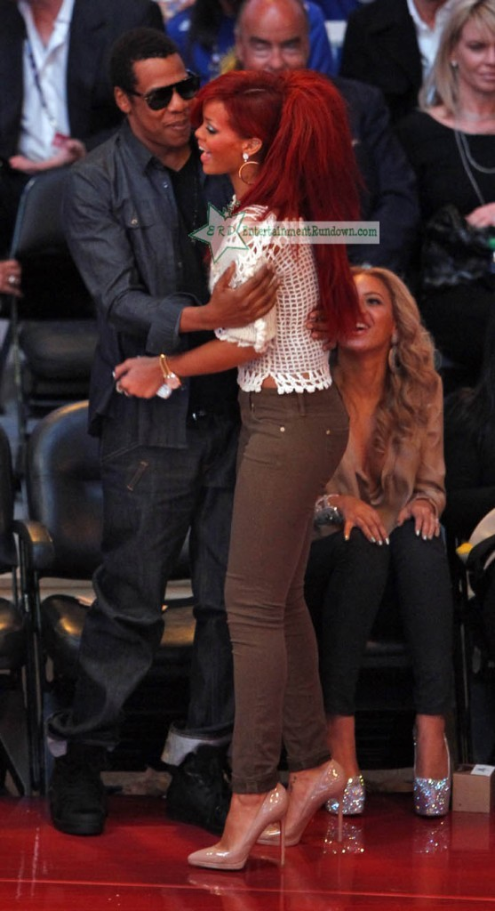 Rihanna avec Jay Z au All star game