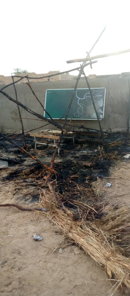 Incendie à l'école élémentaire de Kanda Amady Diakho (Kaolack) : Deux salles de classe emportées par les flammes.