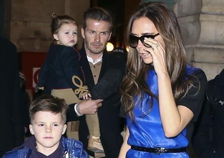 Les Beckham sont arrivés à Paris