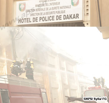 un court circuit provoque un incendie au commissariat central de dakar. Black Bedroom Furniture Sets. Home Design Ideas