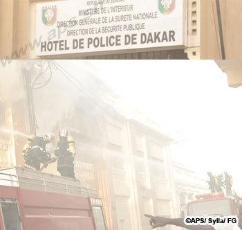 Un court-circuit provoque un incendie au commissariat central de Dakar