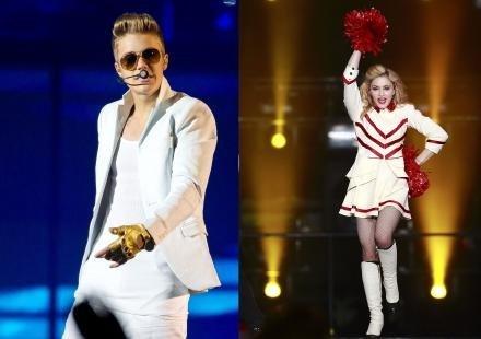 Madonna et Justin Bieber dans le top 10 des chanteurs les mieux payés en 2012