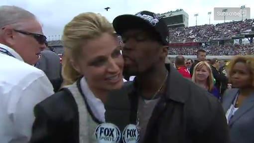 L'étrange baiser de 50 Cent à la journaliste sportive la plus sexy