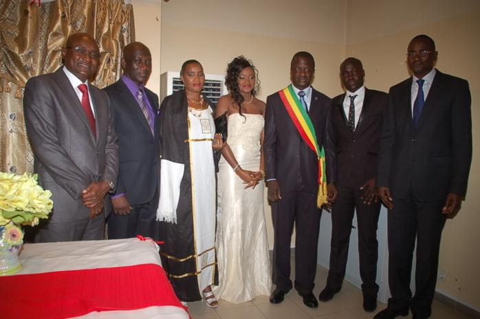 Les images du mariage civil de Makhtar Seck et Fama Thioune