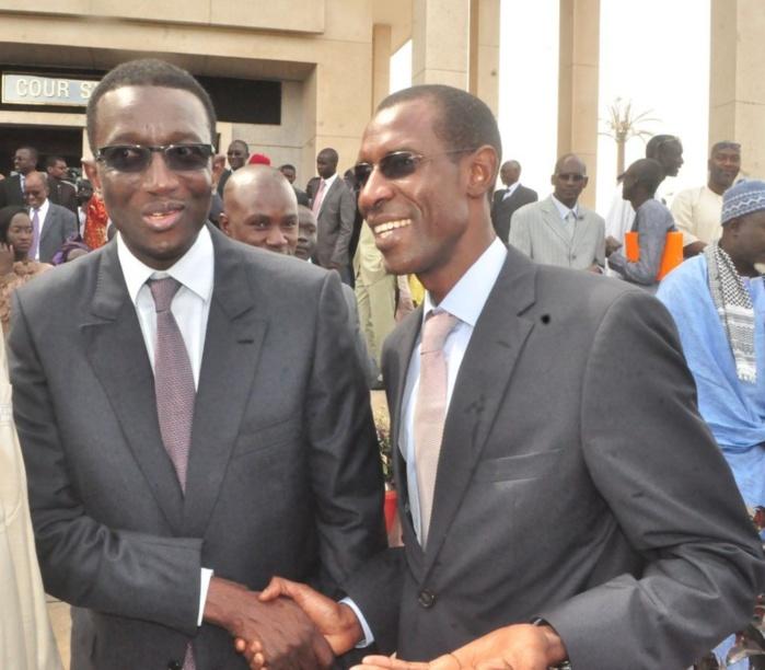 Amadou Ba, le Directeur général des impots et domaines et Abdoulaye Daouda Diallo, ministre du Budget à l'installation du Président de la Cour des Comptes