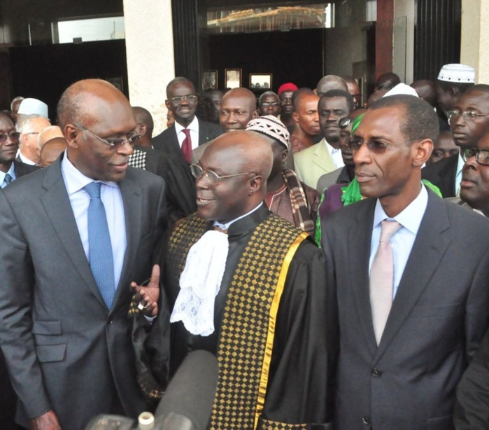 Amadou Kane, ministre des finances, Mamadou Hady Sarr et Abdoulaye Daouda Diallo
