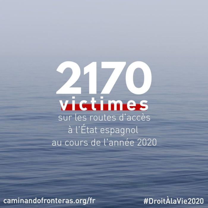 Émigration irrégulière : 2 170 victimes recensées durant l'année 2020 aux frontières espagnoles.