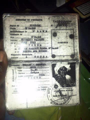 La carte d'identité nationale de Serigne Fallou Mbacké