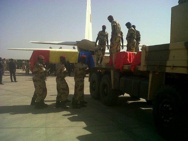 Corps des soldats tchadiens tués par les Djihadistes au nord Mali