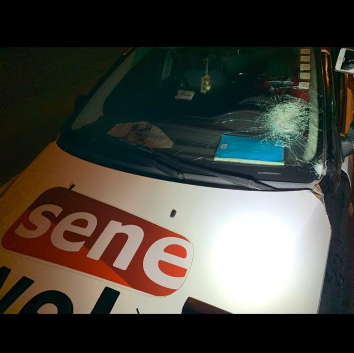 Caillassage du véhicule de seneweb.com : Synpics et Appel déplorent et manifestent leur soutien au site d'information en ligne.