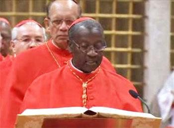 Le cardinal Sarr a prêté serment dans la chapelle Sixtine, selon l'archidiocèse de Dakar