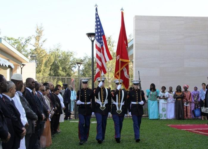 Le Président de la République du Sénégal à l'inauguration de la nouvelle Ambassade des USA