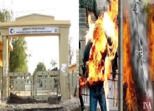 Dernière minute : Des étudiants se sont immolés à l'Université Cheikh Anta Diop