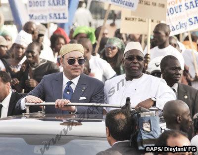Mohamed VI est arrivé à Dakar
