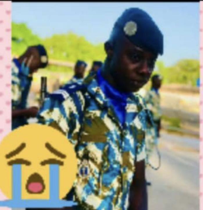 Ngadiaga / Décès du gendarme : Sakoura Gaye, père de jumeaux il y a deux jours, n'a pas eu le temps de voir ses enfants.