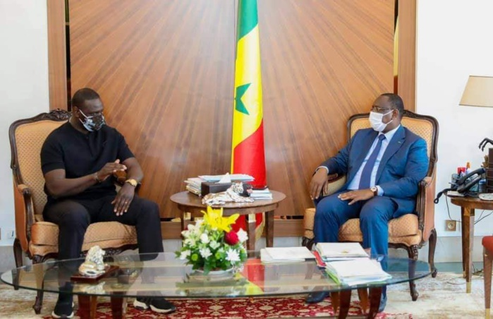 Audience : L'acteur franco-sénégalais Omar Sy reçu par le président Macky Sall.