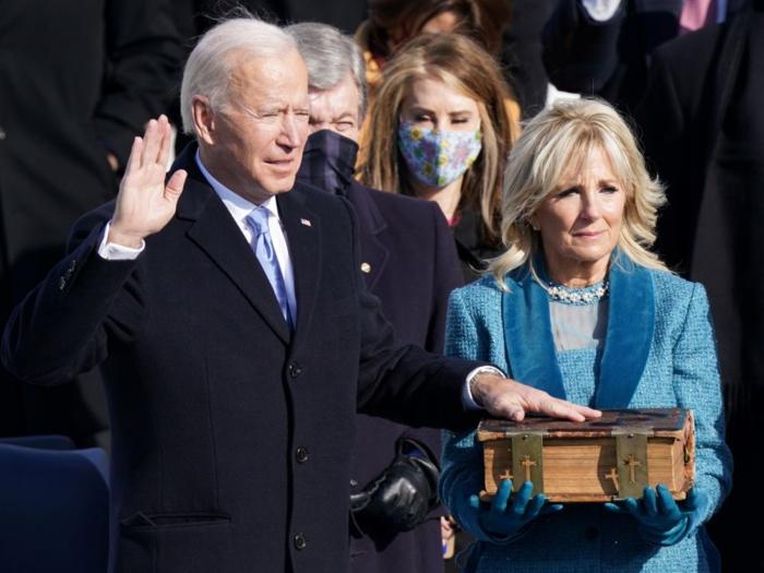 Washington / Investiture du 46 ème président des États-Unis : Joe Biden a prêté serment.