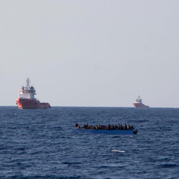 LIBYE : Naufrage d'une embarcation de migrants en Méditerranée.
