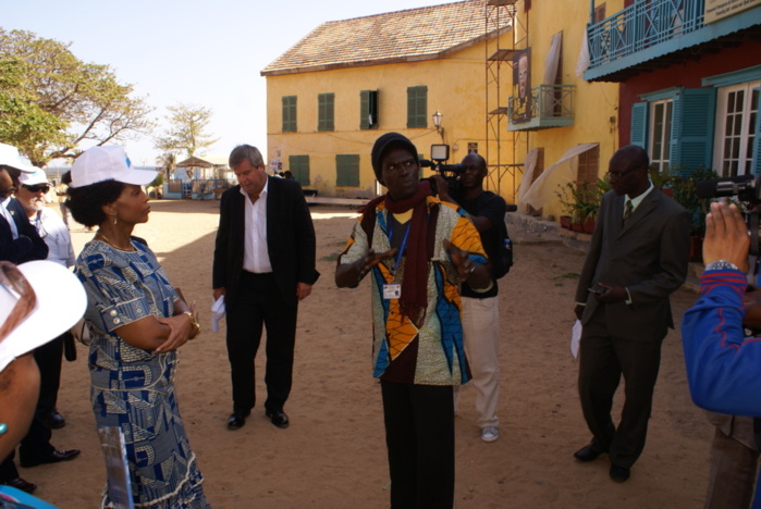 Les images de Mme Maite Nkoana-Mashanane, Ministre sud africaine des Affaires étrangères, en visite à Gorée le jeudi 14 mars 2013.