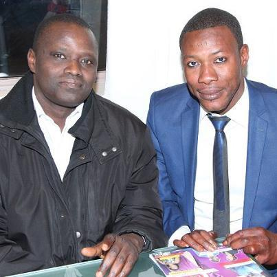 Tange Tandian à Paris avec l'ancien promoteur de lutte, Alioune Petit Mbaye
