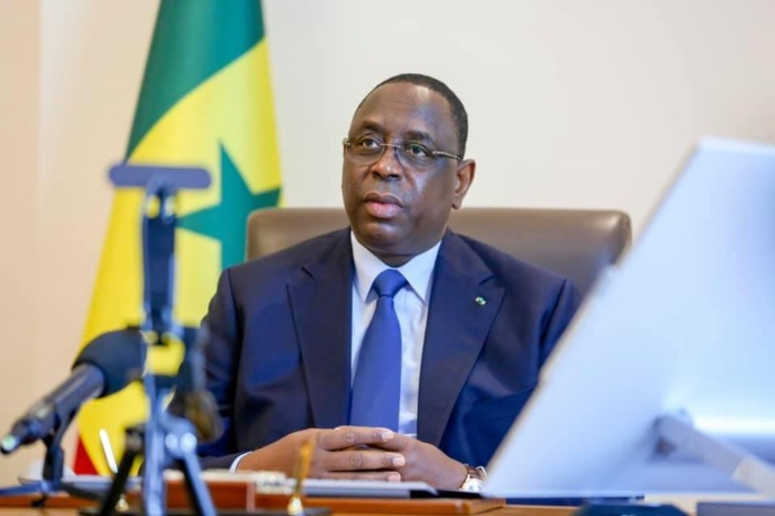 Sénégal : Le président Macky Sall participe à un sommet de l'Union Africaine organisé en visioconférence.