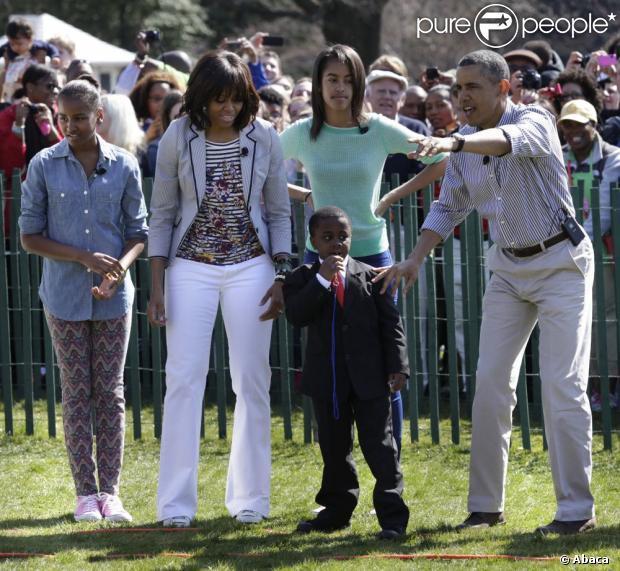 Barack Obama, Michelle et leurs filles : Chasse de Pâques à la Maison-Blanche