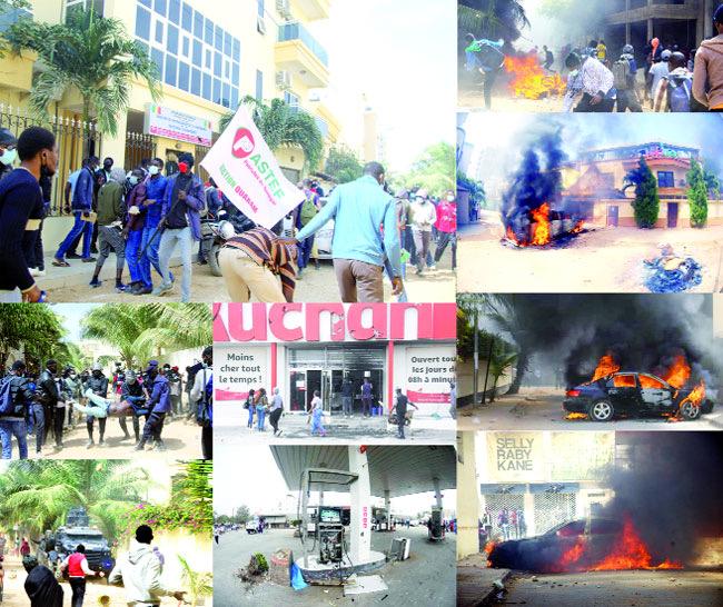 Arrestation d'une quarantaine de personnes lors des manifestations pro Sonko : une dizaine de manifestants vers l'Instruction, le reste vers une libération prochaine.