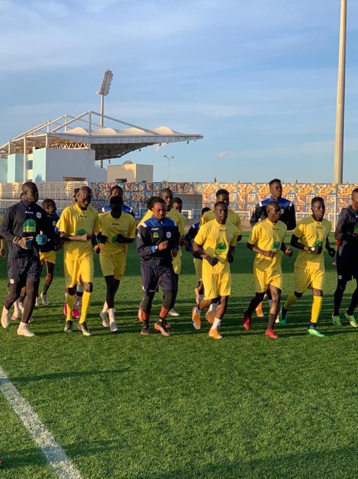 Ligue des champions CAF / Phase de groupes : Teungueth FC s'est entraîné sur la pelouse du stade Radès de Tunis, Dabo aux aguets...
