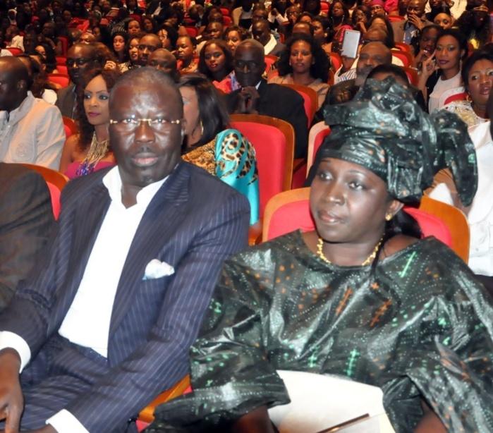 Le porte-parole du président Wade, Babacar Gaye et son épouse au Grand Théâtre