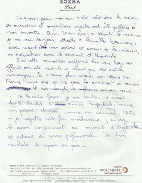 Suicide du médecin de Koh Lanta : Sa lettre d'adieu publiée