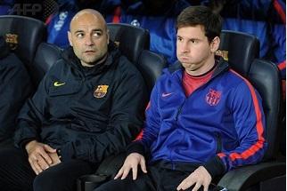 EN IMAGES - Messi craque un peu sur le banc