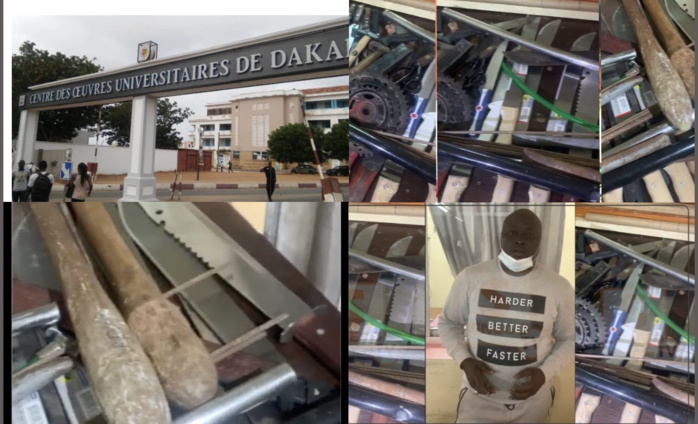 Armes blanches saisies à l'UCAD : La DIC entre en action cette semaine, des arrestations en vue...