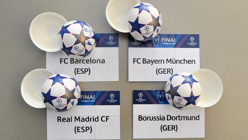 Ligue des champions: Bayern-Barcelone et Dortmund-Real en demis