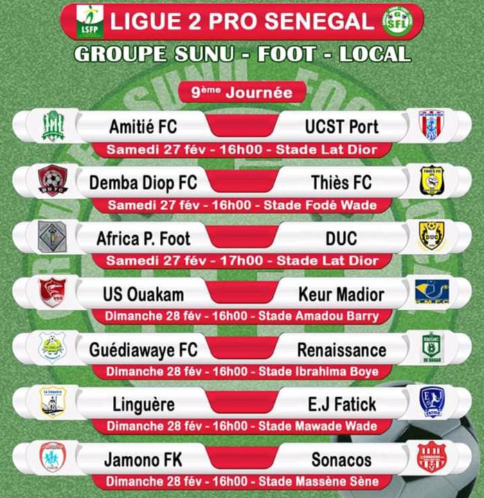 9eme journée Ligue 1 : Un très bon Jaraaf face à une Génération foot relancée, Diambars défend son fauteuil contre Stade de Mbour, le Casa reçoit NGB…