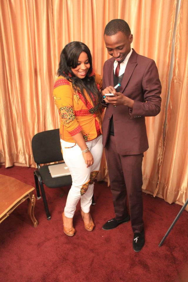 Mara Ndiaye, le boss de LCS avec Dolce Monteiro, patronne de Dolce Strawberry