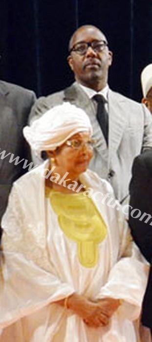 Cheikh Tidiane Mbaye en compagnie de sa maman