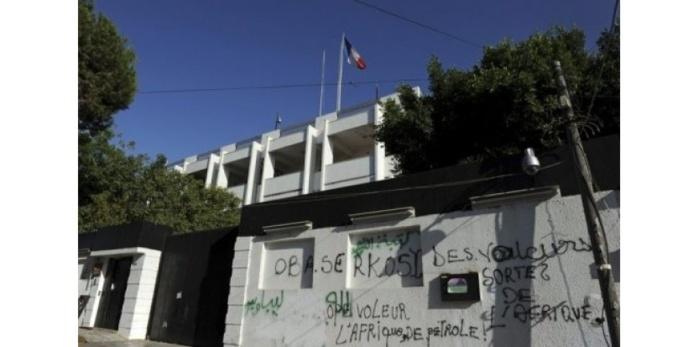 Attentat contre l'ambassade de France à Tripoli: deux gardes blessés
