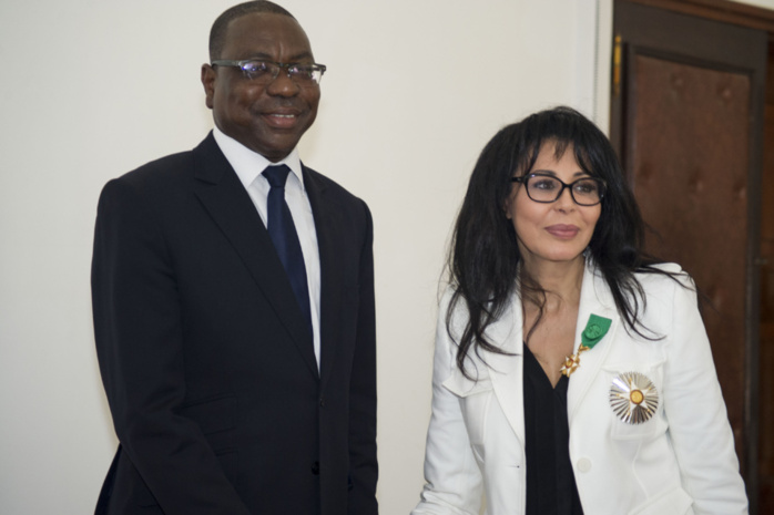 Les images du point de presse de Yamina Benguigui ministre français de la Francophonie et Mankeur Ndiaye Ministre des Affaires Etrangères, tenu le 22 avril 2013 au ministère des Affaires Etrangèr