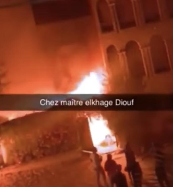 Manifestations à Dakar : Le domicile de Me El Hadj Diouf incendié...