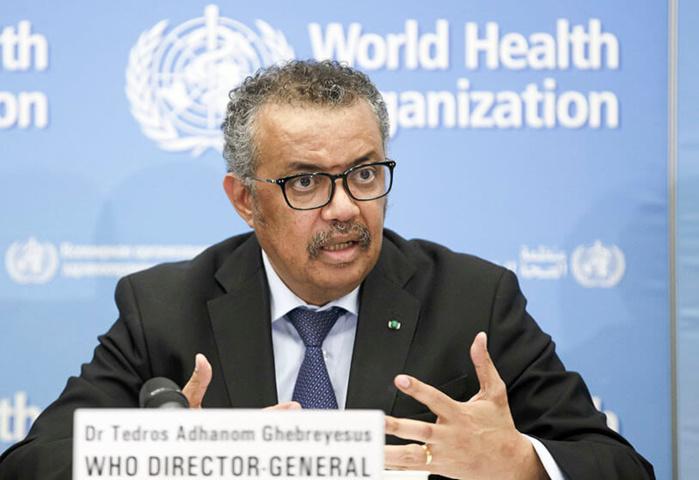 Covid-19 : ''Si les pays ne comptent que sur les vaccins, ils font une erreur'', prévient Dr Tedros, DG de l'Oms.