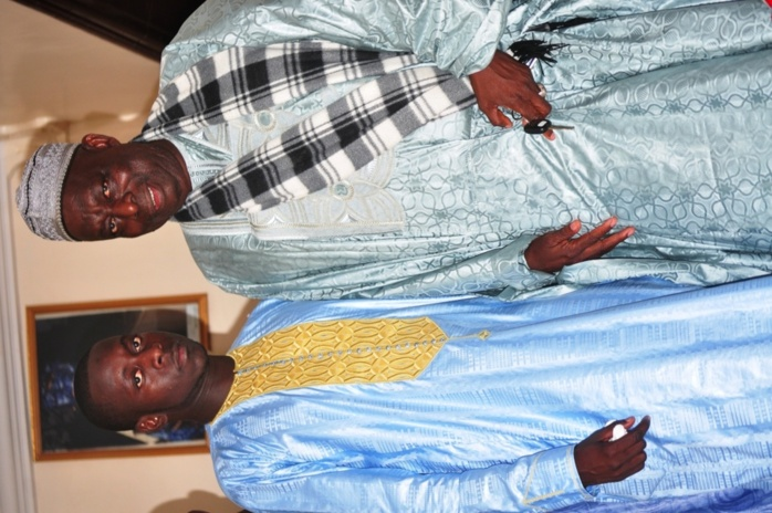 Cheikh Gueye, l'ancien ministre des élections et son fils Bamba Gueye, Patron de partenaire couture