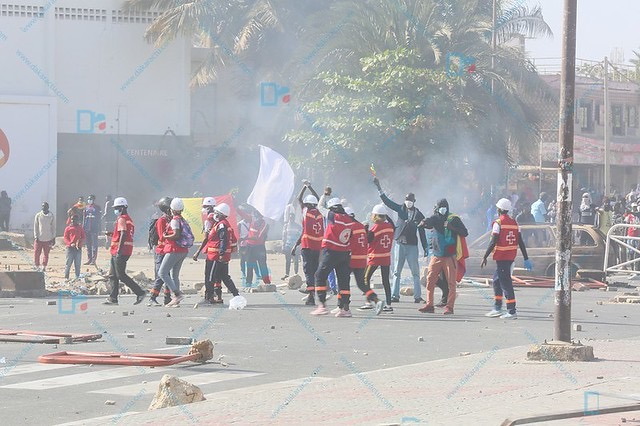 Manifestations au Sénégal : 590 blessés secourus, 232 victimes évacuées vers les structures sanitaires avec toutes sortes de blessures, 06 morts (Croix-Rouge)