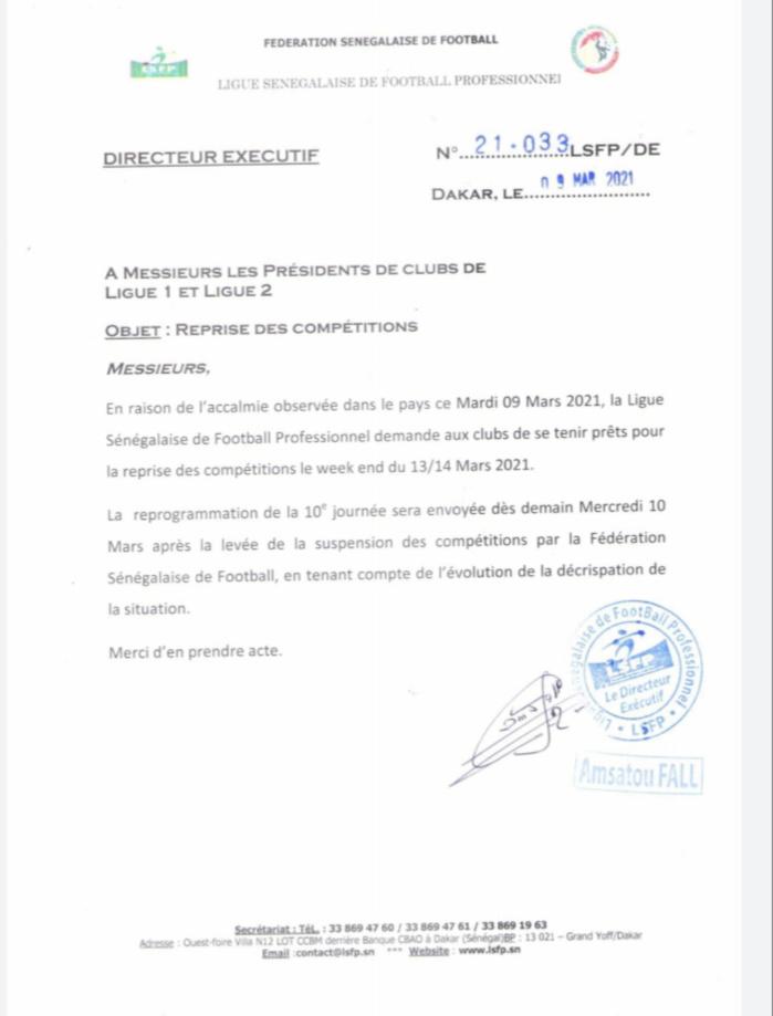 Ligue 1 & 2 : Après la suspension provisoire, la Ligue Pro annonce la reprise des compétitions ce week-end.