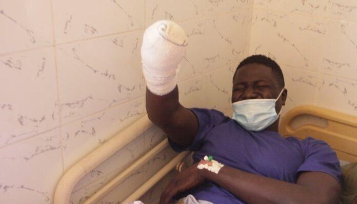 Arrestation et conduite de Cheikh Diouf au Pavillon spécial de Le Dantec : condamné par contumace à 5 ans pour vol violent, il était aussi recherché pour un cambriolage à main armée.