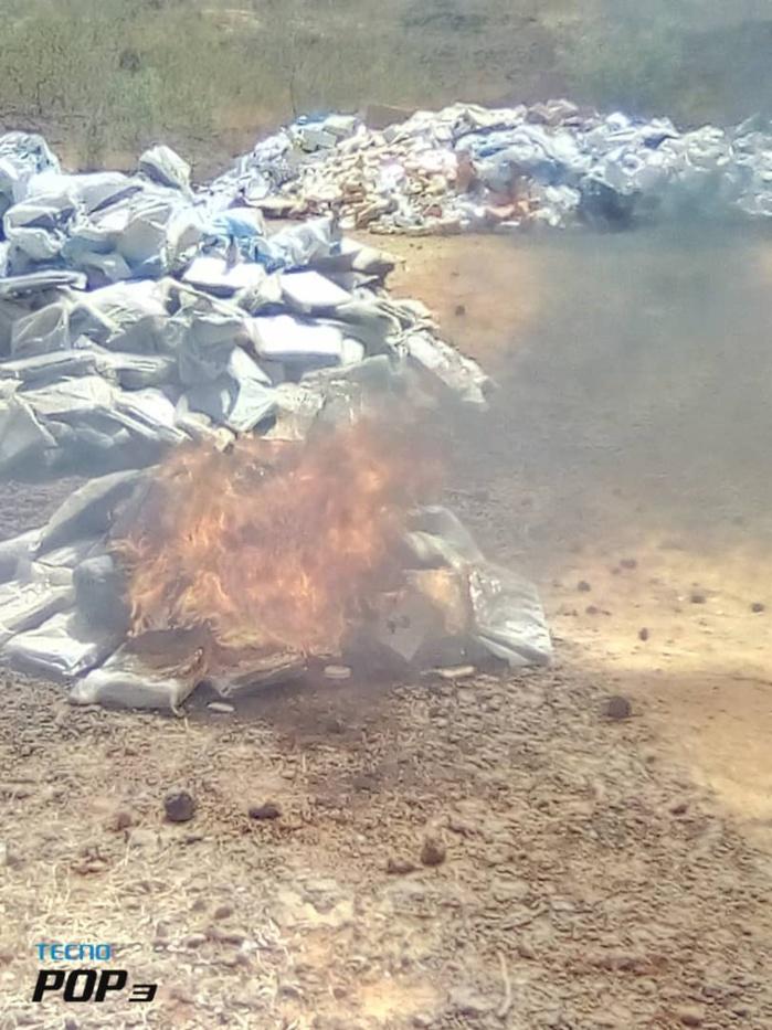 Kaffrine : 4 tonnes 700 de chanvre indien et 3 tonnes 400 de médicaments prohibés, incinérés.