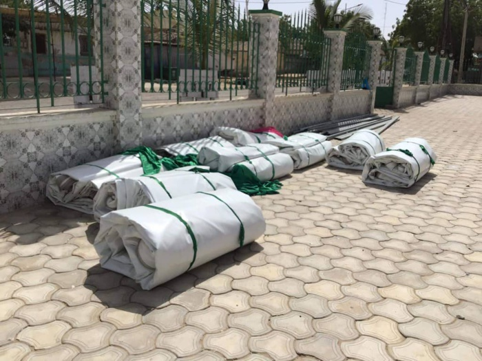 Kaolack : Léona Niassène démonte la tente de Ahmed Khalifa Niass (images).