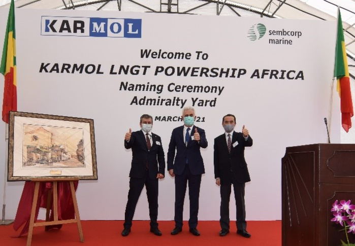 """SENELEC/ENERGIE : Le 1er  GNL à électricité de KARMOL URSF """"KARMOL LNGT AFRICA"""" entame le voyage pour le Sénégal."""
