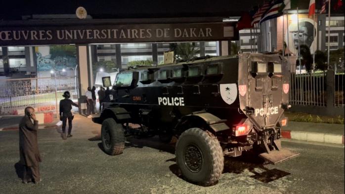 BATAILLE RANGÉE À L'UCAD : Les forces de l'ordre pénètrent dans le campus et règlent la situation... des blessés graves dont un évacué d'urgence à l'hôpital Principal.